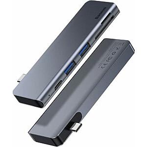 HUB USB Baseus Harmonica 5w1 2xUSB 3.0 USB-C micro SD