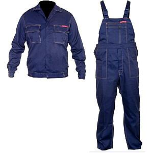 Lahti Pro Darba apģērba sporta krekls un bikses tumši zils XL 182cm - LPQK82XL