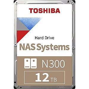 """Toshiba N300 12 TB 3,5 """"SATA III (6 Gb / s) servera disks (HDWG21CEZSTA)"""