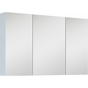 Elita Augšējais skapis ar spoguli 100 cm balts spīdums (904511)