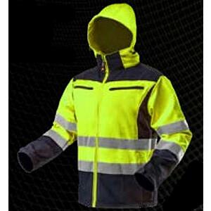 NEO Warning softshell darba jaka ar kapuci, dzeltena, XXL izmērs (81-700-XXL)