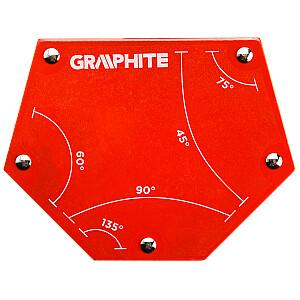Grafīta metināšanas magnētiskais kvadrāts 111x136x24mm 34.0kg (56H905)
