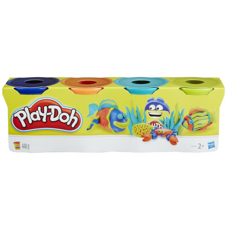 Play Doh Plastilīns, 4 krāsas