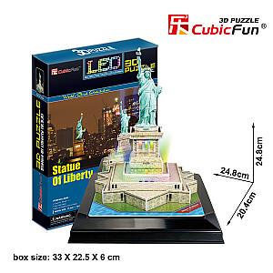 LED 3D puzle Brīvības statuja