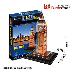 LED 3D puzle Big Ben