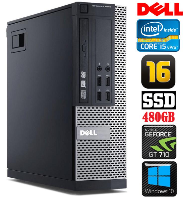 DELL 9020 SFF i5-4590 16GB 480SSD GT710 2GB DVDRW WIN10