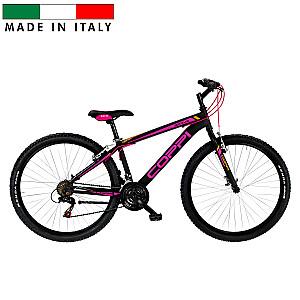 """Coppi MTB Lady Brave kalnu velosipēds - melns ar rozā (Rata izmērs: 27, 5"""" Rāmja izmērs: 15"""")"""