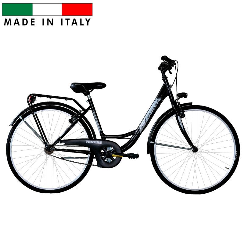 Sieviešu pilsētas velosipēds Frejus Olanda Venere Lady  - melns (Rata izmērs: 26'')