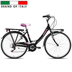 """Sieviešu pilsētas velosipēds Esperia 2100 Mono 26 TZ50 6V Black (Rata izmērs: 26"""" Rāmja izmērs: 18"""")"""
