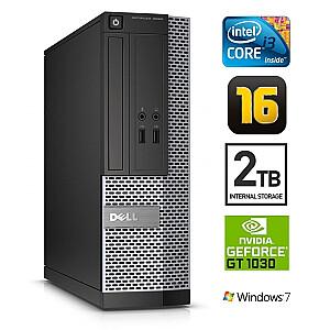DELL 3020 SFF i3-4130 16GB 2TB GT1030 2GB DVDRW WIN7Pro
