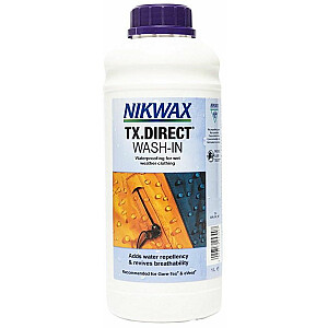 Nikwax lietus apģērbu TX tiešā mazgāšanas līdzekļa hidroizolācija 1000 ml (NI-03)