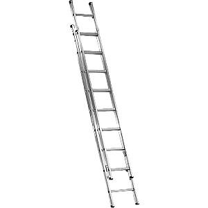 Kāpnes alumīnija 2x11 pakāpieni (1.4mm)