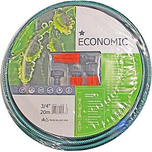 Laistīšanas šļūtene 3/4 Economic ar sprauslu kompl