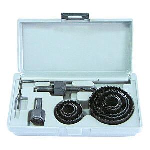 Kroņurbju kompl. kastē 19-22-28-44-51-64mm