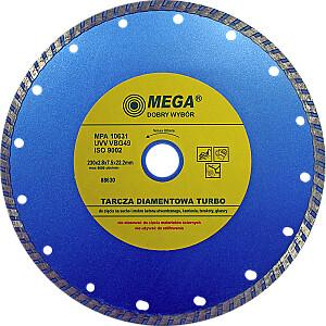 Dimanta disks BTR 230x22mm turbo Mega