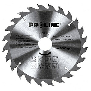 Zāģripa D184x30/20/16mm 24zobi Proline