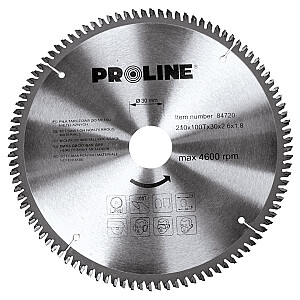 Zāģripa alum. D210x30mm 100zobi Proline