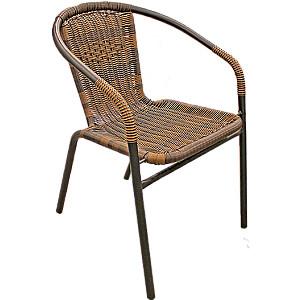Krēsls pīts metāla 55x56x75 brūns