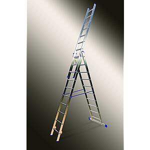 Kāpnes alumīnija VHR3x14 pak. garums 8.67m (3x3.73m) Elkop PRO