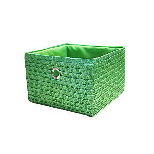 Grozs poliesters, 24x23x16cm, zaļš