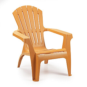 Krēsls plastmasas Dolomati oranžs