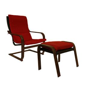 Krēsls atpūtas sarkans