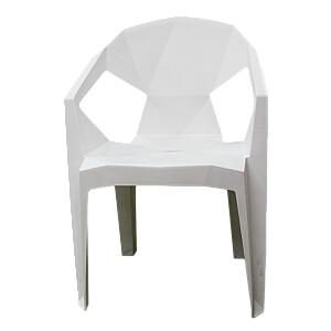 Krēsls plastmasas 54x40x80 balts