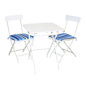 Dārza komplekts galds ar 2 krēsliem