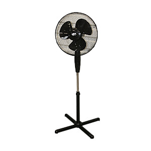 Grīdas ventilators 40.64cm, 40W, 3 ātrumi, melns