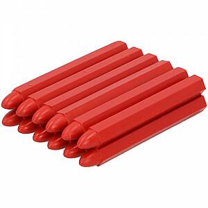 Krītiņš iezīmēšanai 12gb sarkans, vaska