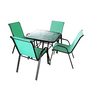 Dārza komplekts, galds ar 4 krēsliem