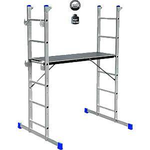 Kāpnes alumīnija sastātnes HPP 650 platf.augst 0.95m/max2.9m Elkop