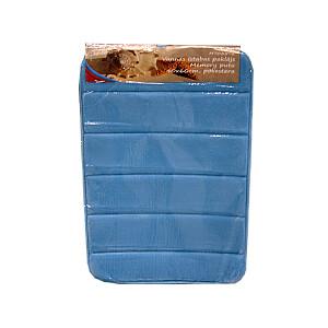 Vannas istabas paklājs Memory putu 40x60cm, g.zils