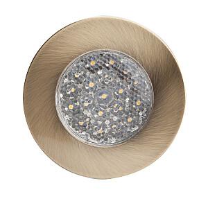 Ieb. lampa 19LED apaļa platīna