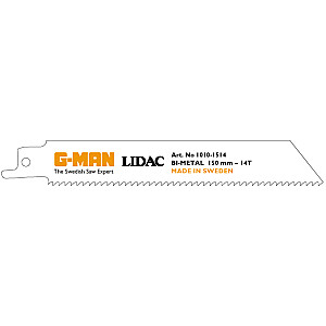 Zobenzāģa asmeņis metālam BiM 150x19x0.9mm-14T 2gb